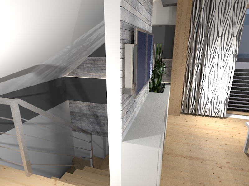 Salon z kuchnią na poddaszu  Prototyp -> Salon Kuchnia Na Poddaszu