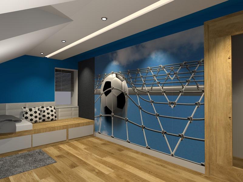 Niebieska sypialnia